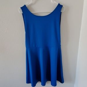 H&M Blue Low Back Dress